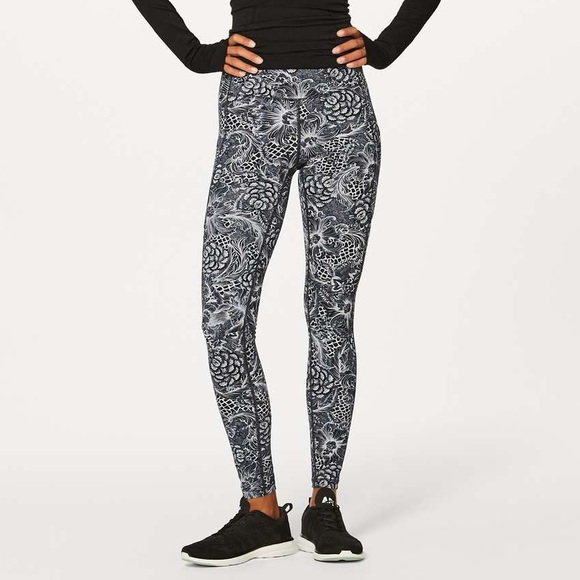 12913830c38222 lululemon athletica Pants | Speed Up Tight Nouveau Black White ...